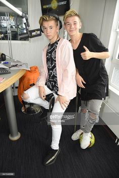 Marcus & Martinus are seen during their visit to 93,6 JAM FM on September 1, 2017 in Berlin, Germany.