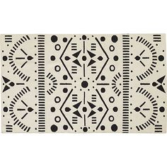Black & white = quite alright. Oslo wool dhurrie rug  #CB2