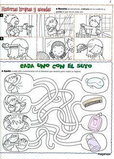 Educación Inicial Córdoba: Día Mundial de la Salud - 7 de abril Educational Activities, Preschool Activities, Islam For Kids, Hygiene, Exercise For Kids, Preschool Worksheets, Teaching Spanish, I School, Kids Education