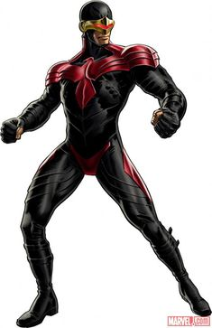 Cyclops (Ciclope) - X-Men - Scott Summers (alternate costume) character model from Marvel: Avengers Alliance