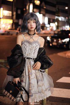 猫梓子707 Kawaii Fashion, Lolita Fashion, Cute Fashion, Asian Fashion, Beautiful Japanese Girl, Beautiful Asian Women, Crazy Outfits, Girl Outfits, Cute Emo Girls