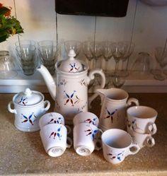 Een echte stoere set van Societé Ceramique! handbeschilderd en echt een brocante uitstraling. I love it!!!