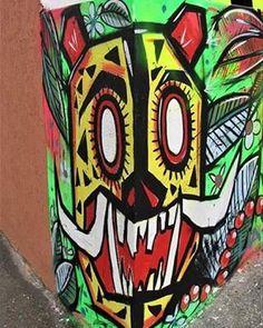 "39 Me gusta, 1 comentarios - KPO (@kpo.bta) en Instagram: ""Jaguar /KPO/neiva hell #kpo #bogota #colombia🇨🇴 #streetartcolombia #streetart #flores  #caliente…"""