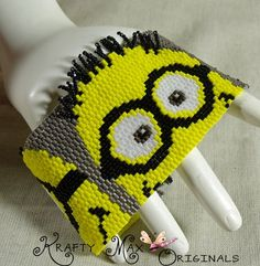 Little Minions Beadwoven Bracelet - A Krafty Max Original Design | KraftyMax - Jewelry on ArtFire