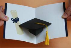 Graduation Cap PopUp Card  Congratulations by PeadenScottDesigns, $7.30
