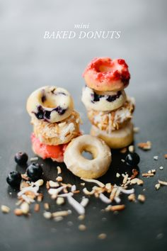 Mini baked donuts with no sugar