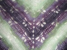 Butterfly Stitch Prayer Shawl. Free Ravelry download. Pattern works with a wide variety of yarns. Hook size will vary accordingly.