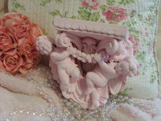 Shabby Chic Pink Wall Shelf Cherubs Marie Antoinette Paris