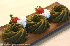 Receta de Chiffon cake matcha, bizcocho de té verde matcha www.recetasjapone... #receta #japon #recetasjaponesas #matcha #chiffon