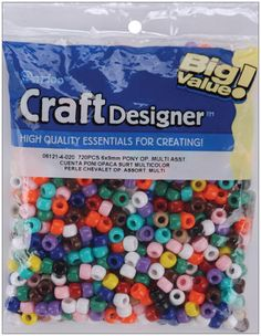 Opaque pony beads - 720 pack for $4.16!