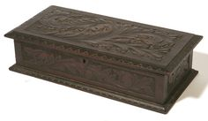 c1880 Aesthetic box, Cincinnati Art Mvt, wal, 13w, 10-1h.