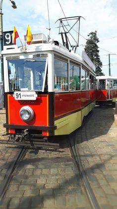 Historická tramvaj na Výstavišti.