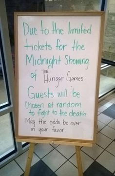 Too funny! Midnight showing of The Hunger Games