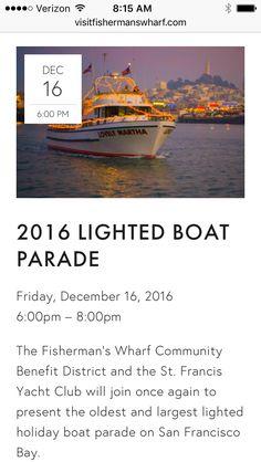 Boat parade Friday 12/16 @ 6pm