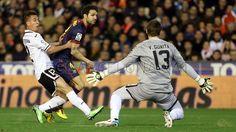 Cesc, FC Barcelona, Guaita, Valencia.   Valencia 1-1 FC Barcelona. 2013-02-03.