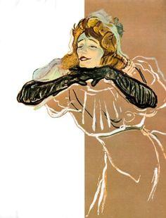 Esquire Magazine Illustration by Henri de Toulouse Lautrec