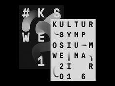 Ознакомьтесь с этим проектом @Behance: «Kultursymposium Weimar 2016 – Branding» https://www.behance.net/gallery/48982749/Kultursymposium-Weimar-2016-Branding