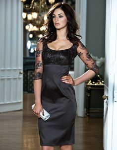 Lace Satin Dress by Pepperberry