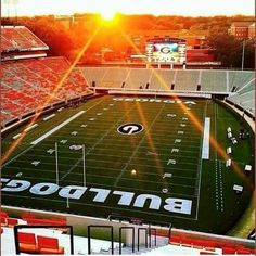 Sunrise Over Sanford Stadium