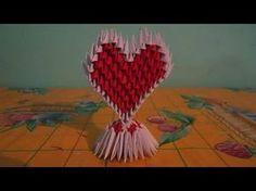 como hacer un corazon de origami 3d(parte 2) - YouTube