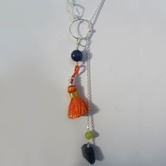 Cirque Tassel Necklace in Sterling Silver and Lapis Lazuli by Oncefound  Available at: http://www.oncefound.co.uk/