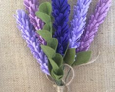 Felt Lavender, Lavender Bouquet, Felt Lavender Bouquet, Bouquet Lavender, Bridesmaid Bouquet, Wedding Bouquet