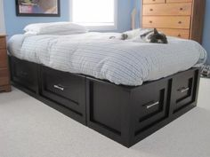 Pottery Barn Stratton knock off All of our beds have shallow drawers under. Deeper ones would be the only change that I would make. & Sumatra Storage Bed | Pinterest | Storage beds Barn and Storage