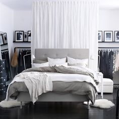 The IKEA Everyday — 5 ways to divide a space with curtains. Featured...