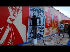 Univision News caught some great footage of Shepard Fairy working on his mural in Miami,FL. Via MoreThanSunshine.com