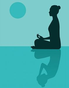 Illustration of woman meditating with a shadow of the same woman holding her own head Understanding Anxiety, Meditation Benefits, Mindfulness Meditation, Relaxation Techniques, Yoga Art, Happy Vibes, How To Fall Asleep, Religion, The Incredibles