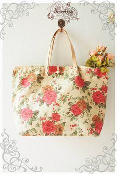 AMOR BAG  Vintage floral bag / Tote bag / Leather by Amordress, $25.00 I LOVE THIS FUN TOTE!!