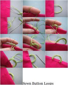 Sewn Button Loop