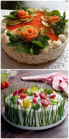 Закуска, которая нравится всем: Бутербродный торт - fav0ritka77.ru Cooking Time, Cooking Recipes, Healthy Recipes, Food Decoration, Antipasto, Party Snacks, Amazing Cakes, Food Art, Food To Make