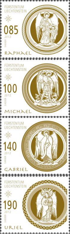 Christmas 2012 stamps from Liechtenstein