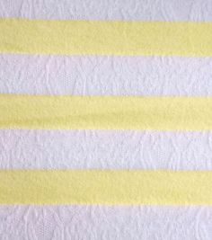 Doodles Collection Fabric Lace Stripe Knit Yellow