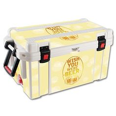 MightySkins Protective Vinyl Skin Decal for Pelican 65 qt Cooler wrap cover sticker skins Wish You Were Beer *** Check out this great product.