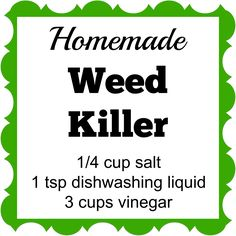 Homemade Weed Killer This Homemade Weed Killer has only 3 ingredients. Spray it on the weeds and they'll die within a few days.This Homemade Weed Killer has only 3 ingredients. Spray it on the weeds and they'll die within a few days.