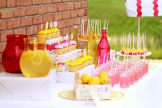 Lemonade and Sweets Table Stand