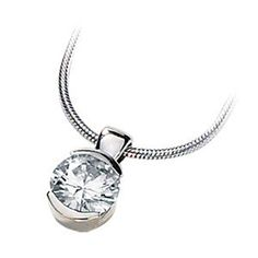 06.00 mm = 3/4 ct. Created Moissanite Solitaire Pendant in 14K White Gold. 06.00 mm = 3/4 ct. Created Moissanite Round Pendant in 14k White Gold. Free Shipping and 100% Satisfaction Guarantee. This product comes with a FREE contemporary Gift Box. All our gold items are responsibly sourced and the majority is made from environmentally processed recycled gold. All diamonds used in our jewelry are conflict free and 100% in compliance with the Kimberly Code of Conduct.