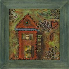 Mixed Media House Series, H-1