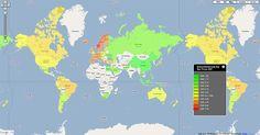 Global McDonald's Price Map: BurgerNomics | digital urban