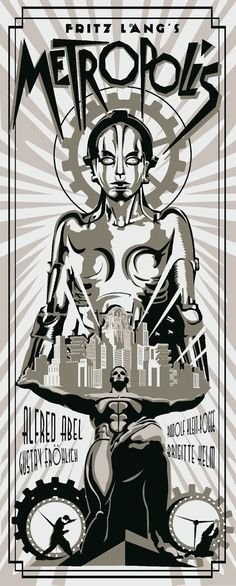 In a futuristic city sharply divided between the working class and the city planners, the son of the city's mastermind falls in love with a working class prophet who predicts the coming of a savior to mediate their differences. Modern Art Deco posters by rodolforever.