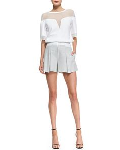 Pleated Shorts Pleated Shorts, Tuxedo, Everyday Fashion, Fashion Beauty, Short Dresses, Rompers, Style Inspiration, Tees, Box