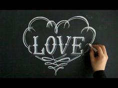 チョークレタリングでバレンタインデーの大人黒板(chalkart:Valentine's Day)
