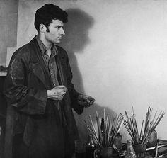 Lucian Freud in a studio, 1954. Photograph: Paul Popper