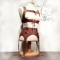 Leather harness and corset  for Festivals - Burning man - Mad Max - Costume - Carnival - Fantasy - Steampunk - Cosplay