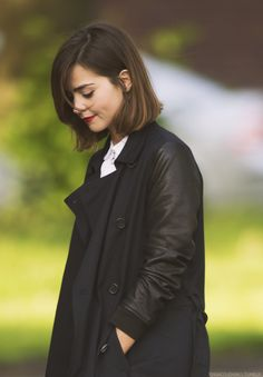 Jenna on set filming Doctor Who Season 9 in Cardiff, Wales - 11th May 2015