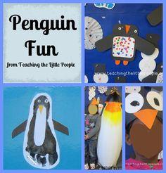 Penguin Fun from Teachingthelittlepeople.com