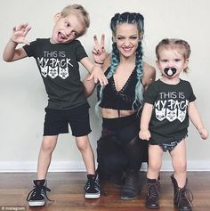 'Family yoga': Charity first got into yoga as a way of getting fit after Oakley's birth Family Yoga, Baby Photos, Family Photos, Cute Baby Girl Outfits, Stylish Maternity, Yoga For Kids, Family Shirts, Mommy And Me, Yoga Poses