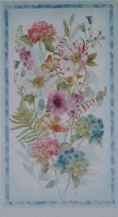 """Rainbow Seeds~Panel~22"""" x 44"""" Cotton Fabric by Wilmington Prints~Home Decor Quilt~Fast Shipping,F809"""